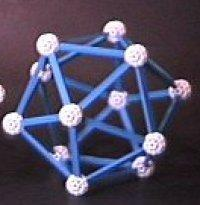 static icosahedron with tied down ends